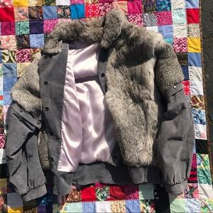 Jackets & Blazers - Fur jacket, leather and removable arms!
